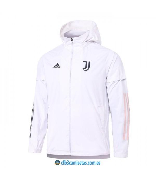 CFB3-Camisetas Chaqueta impermeable con capucha juventus 2020/21