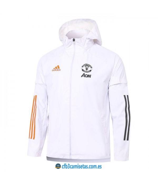 CFB3-Camisetas Chaqueta impermeable con capucha manchester united 2020/21