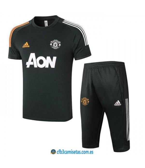 CFB3-Camisetas Kit entrenamiento manchester united 2020/21 - negro