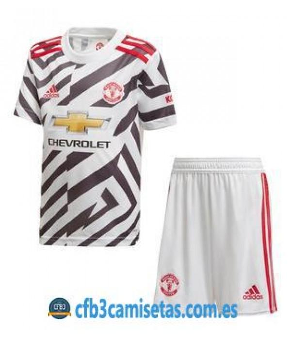 CFB3-Camisetas Manchester united 3a equipación 2020/21 - niÑos