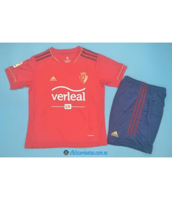 CFB3-Camisetas Osasuna 1a equipación 2020/21 - niÑos