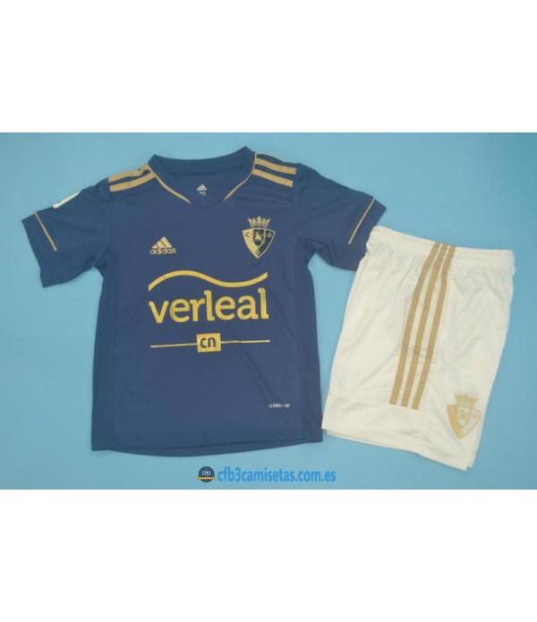 CFB3-Camisetas Osasuna 2a equipación 2020/21 - niÑos