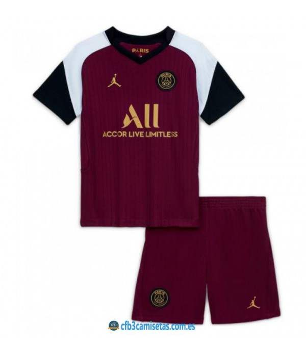 CFB3-Camisetas Psg 3a equipación 2020/21 - niÑos