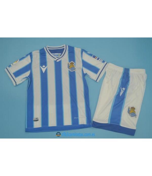 CFB3-Camisetas Real sociedad 1a equipación 2020/21 - niÑos