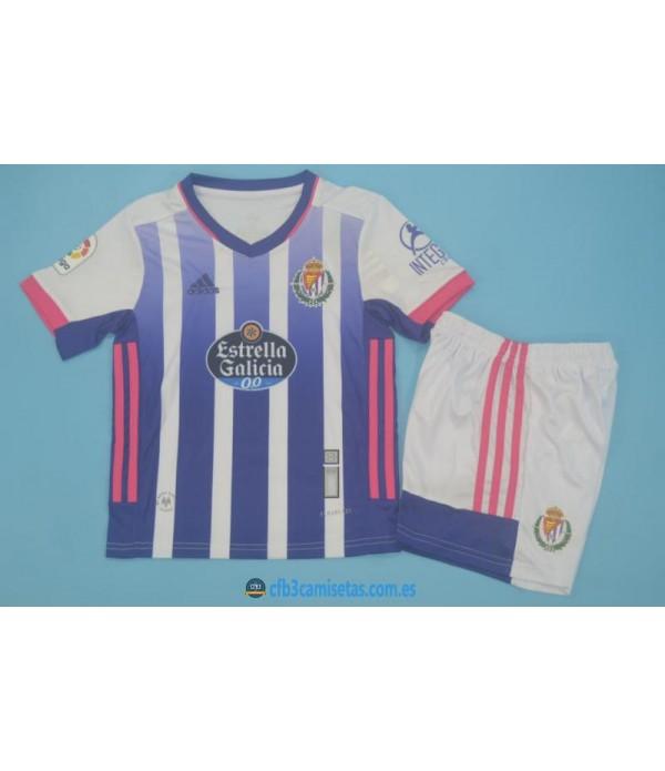 CFB3-Camisetas Real valladolid 1a equipación 2020/21 - niÑos