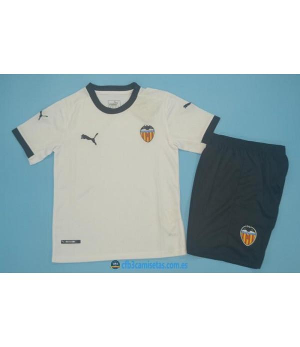 CFB3-Camisetas Valencia 1a equipación 2020/21 - niÑos