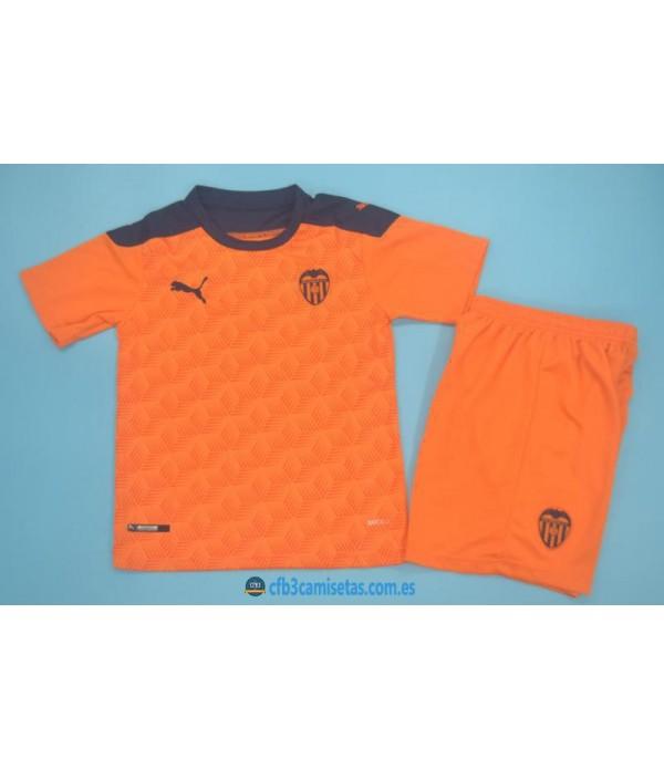 CFB3-Camisetas Valencia 2a equipación 2020/21 - niÑos