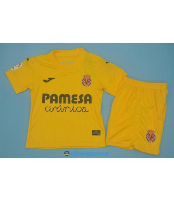 CFB3-Camisetas Villarreal 1a equipación 2020/21 - niÑos