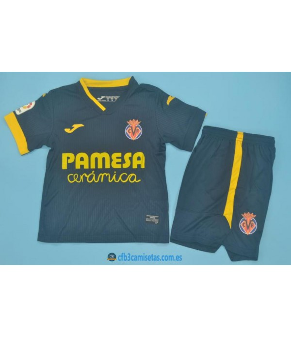 CFB3-Camisetas Villarreal 2a equipación 2020/21 - niÑos
