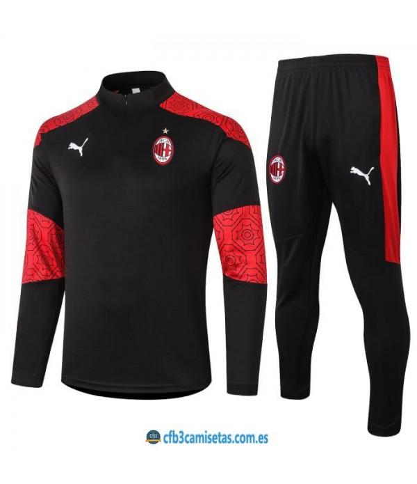 CFB3-Camisetas Chándal ac milan 2020/21 - negro