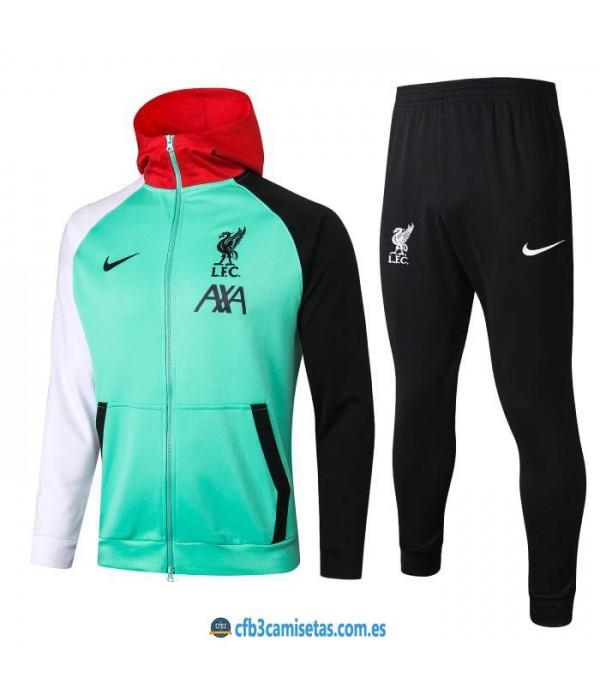 CFB3-Camisetas Chándal liverpool 2020/21 - capucha verde
