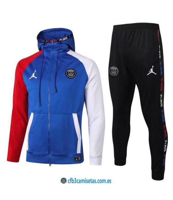 CFB3-Camisetas Chándal psg x jordan 2020/21 - azul