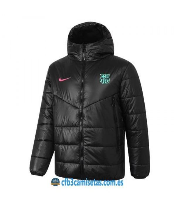 CFB3-Camisetas Chaqueta acolchada fc barcelona 2020/21 - negra