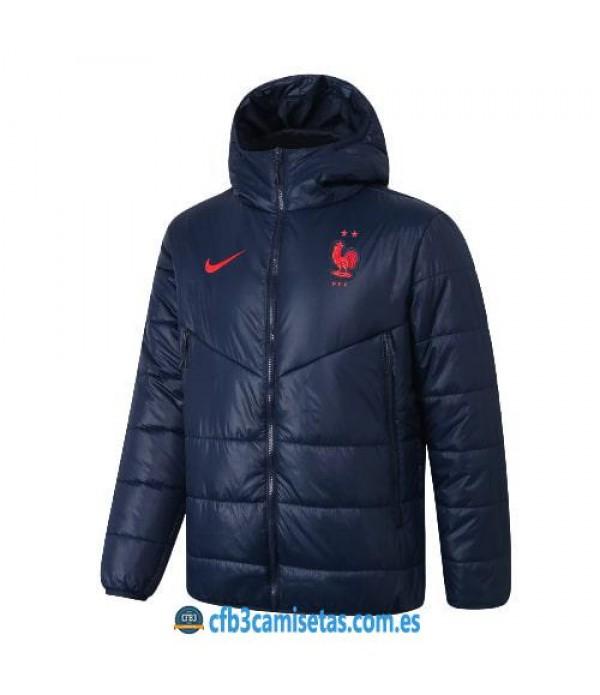 CFB3-Camisetas Chaqueta acolchada francia 2020/21 - azul
