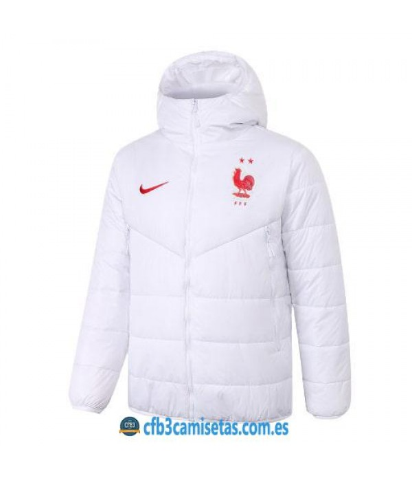 CFB3-Camisetas Chaqueta acolchada francia 2020/21 - blanca