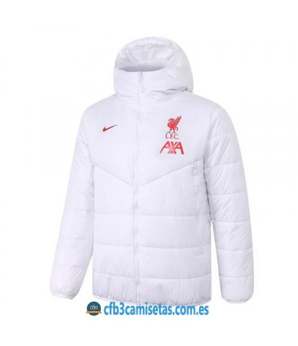 CFB3-Camisetas Chaqueta acolchada liverpool 2020/21 - blanca