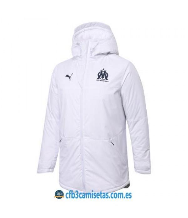 CFB3-Camisetas Chaqueta acolchada olympique marsella 2020/21 - blanca