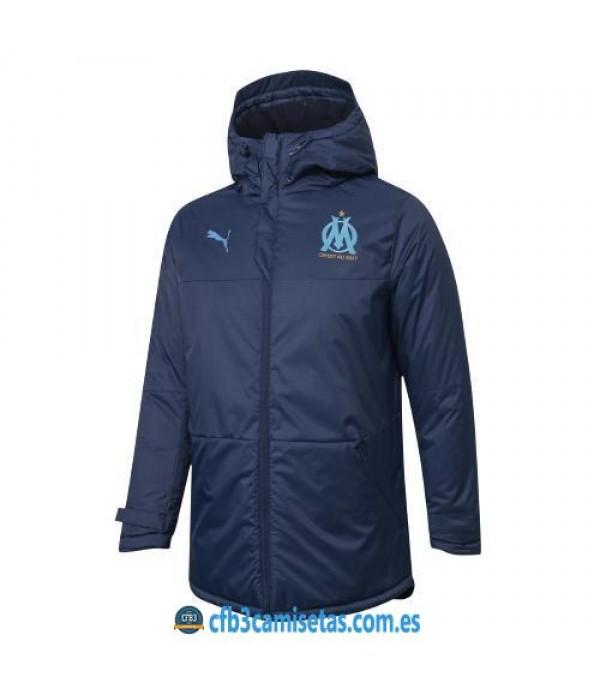 CFB3-Camisetas Chaqueta acolchada olympique marsella 2020/21 - blue