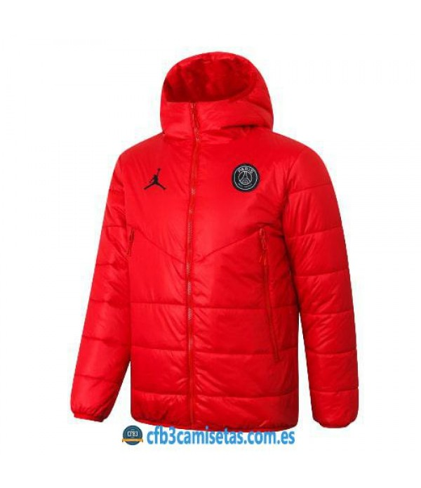 CFB3-Camisetas Chaqueta acolchada psg x jordan 2020/21 - roja