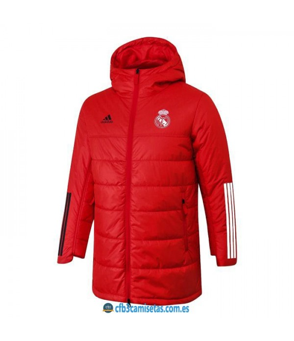 CFB3-Camisetas Chaqueta acolchada real madrid 2020/21 - roja