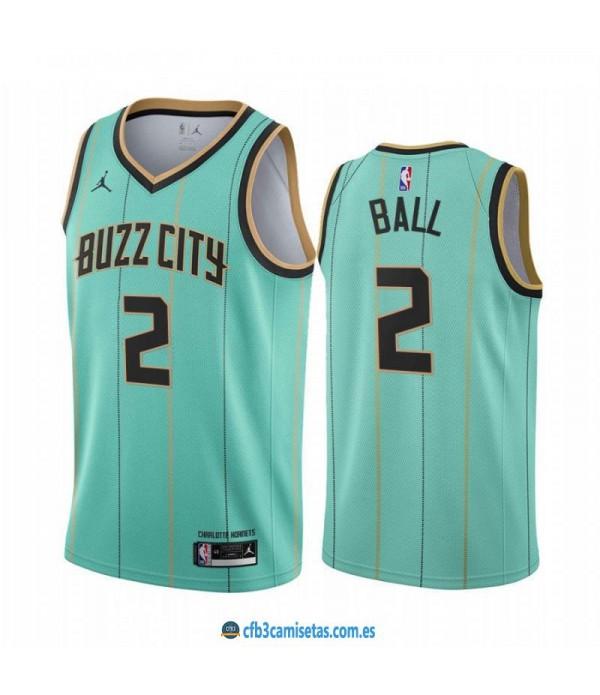 CFB3-Camisetas Lamelo ball charlotte hornets 2020/21 - city edition