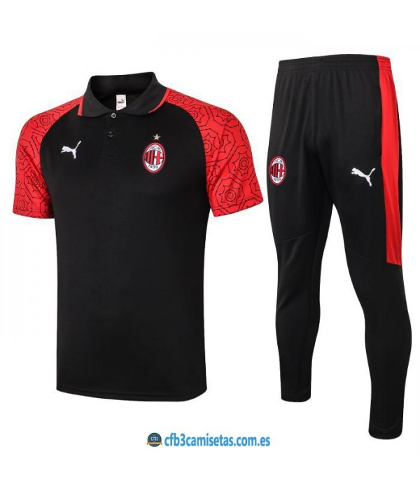 CFB3-Camisetas Polo pantalones ac milan 2020/21
