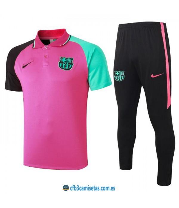 CFB3-Camisetas Polo pantalones fc barcelona 2020/21 - rosa