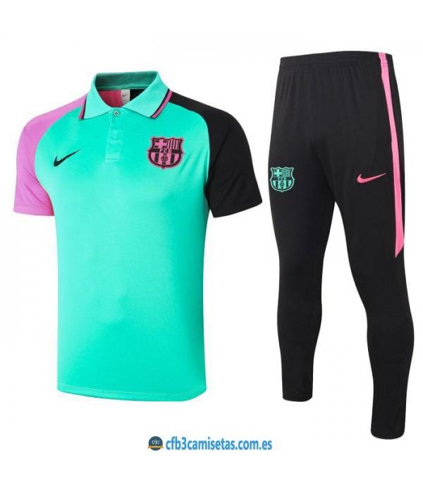 CFB3-Camisetas Polo pantalones fc barcelona 2020/21 - verde