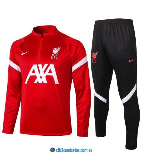 CFB3-Camisetas Chándal liverpool 2020/21 red