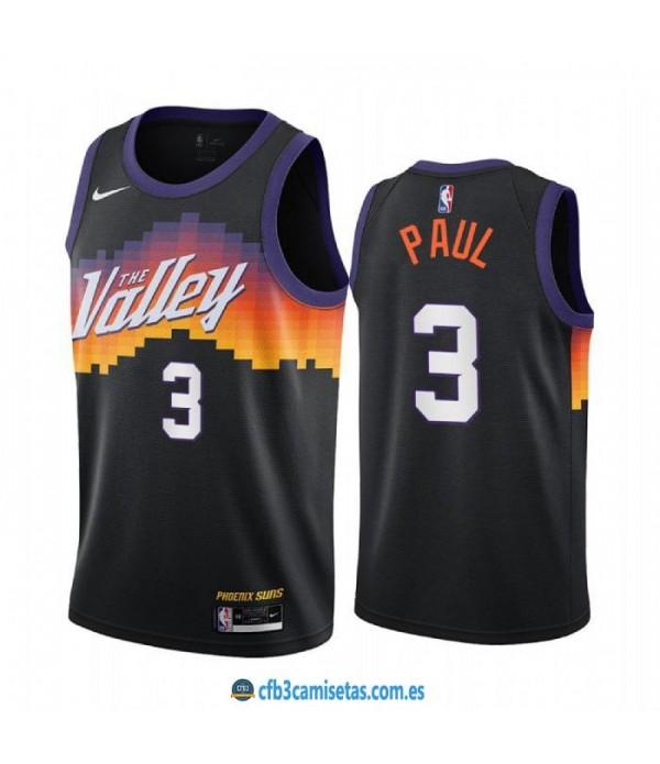 CFB3-Camisetas Chris paul phoenix suns 2020/21 - city edition