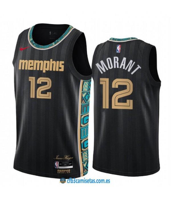 CFB3-Camisetas Ja morant memphis grizzlies 2020/21 - city edition