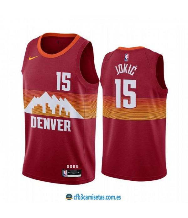 CFB3-Camisetas Nikola jokic denver nuggets 2020/21 - city edition