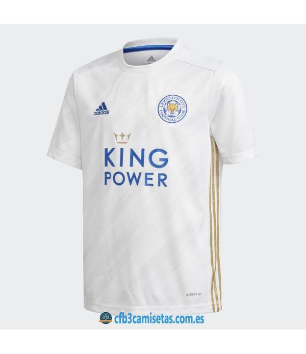 CFB3-Camisetas Leicester city 2a white equipación 2020/21