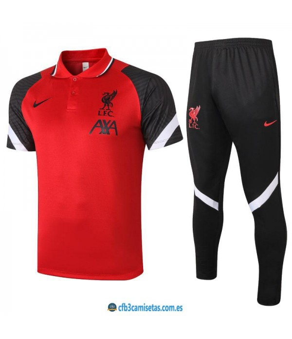 CFB3-Camisetas Polo pantalones liverpool 2020/21 red