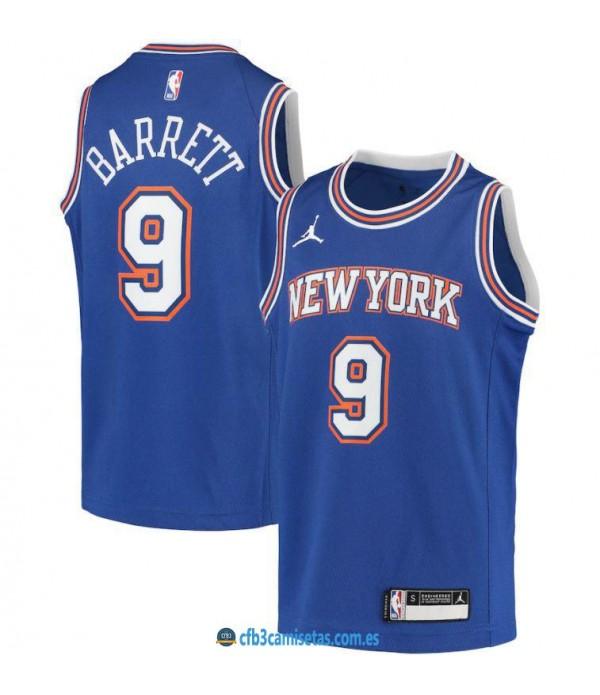 CFB3-Camisetas Rj barrett new york knicks 2020/21 - statement