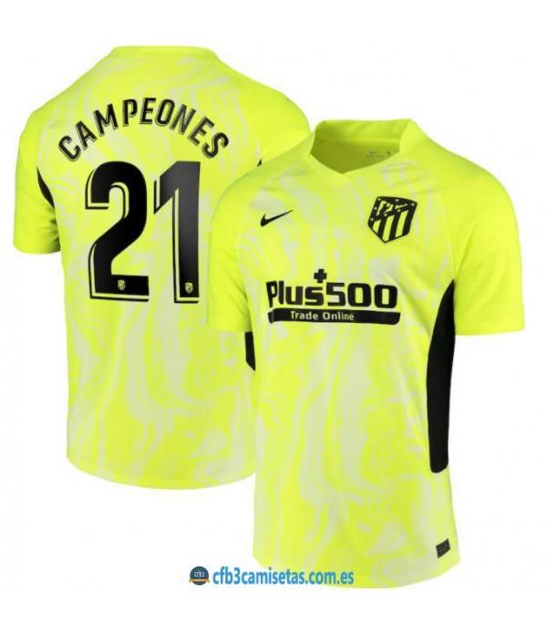 CFB3-Camisetas Atlético madrid 3a equipación 20/21 - campeones