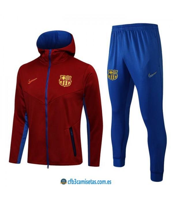 CFB3-Camisetas Chándal fc barcelona 2021/22 capucha