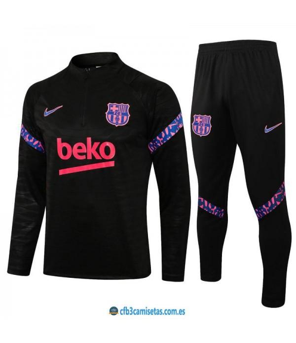 CFB3-Camisetas Chándal fc barcelona 2021/22 negro