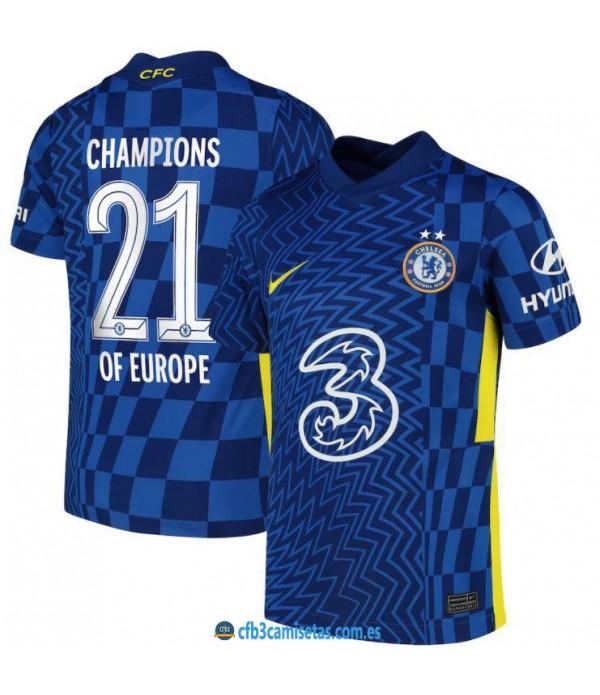 CFB3-Camisetas Chelsea 1a equipación 2021/22 - champions