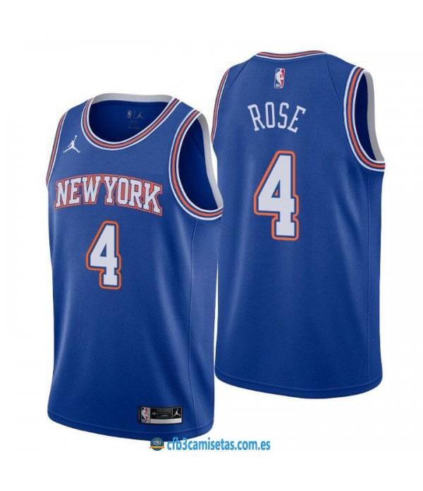 CFB3-Camisetas Derrick rose new york knicks 2020/21 - statement