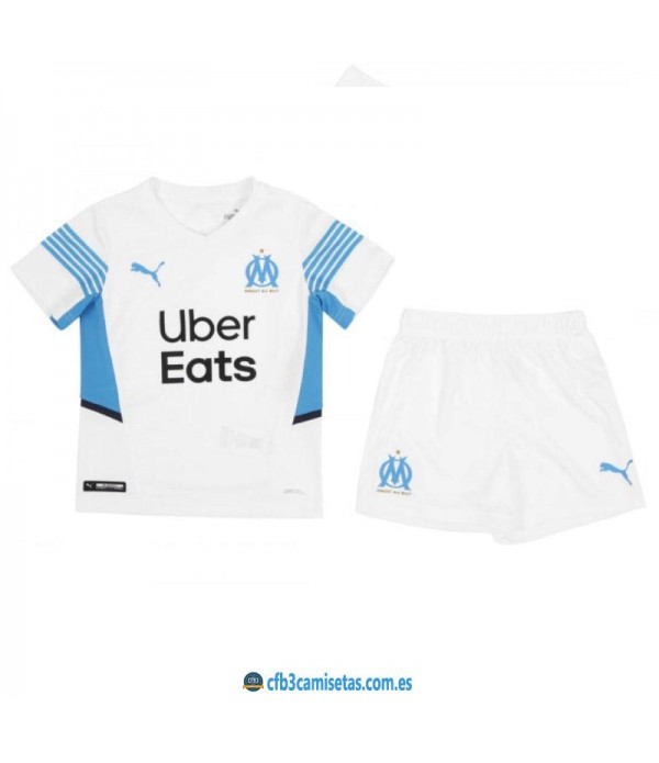 CFB3-Camisetas Olympique marsella 1a equipación 2021/22 - niÑos