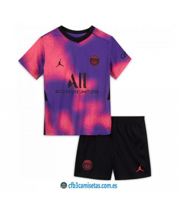 CFB3-Camisetas Psg 4a equipación 2020/21 - niÑos