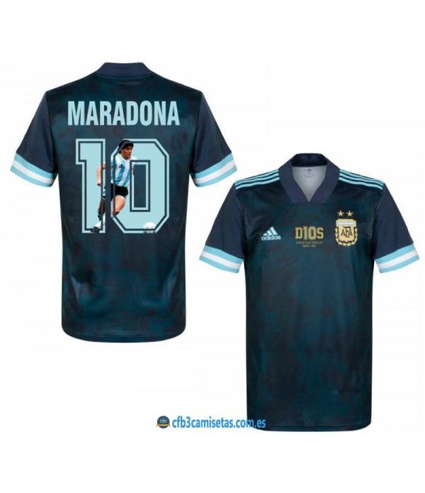 CFB3-Camisetas Argentina 2a equipación 20/21 - gracias diego