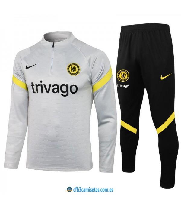 CFB3-Camisetas Chándal chelsea 2021/22 blanco
