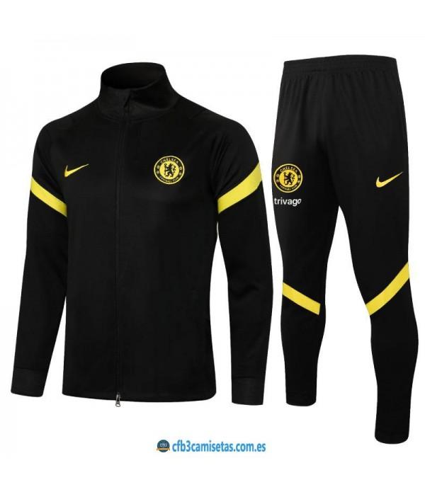 CFB3-Camisetas Chándal chelsea 2021/22 negro