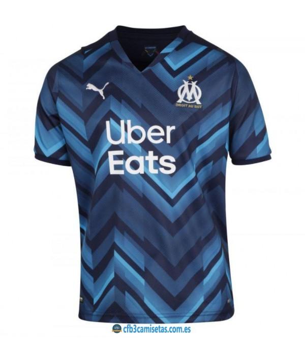 CFB3-Camisetas Olympique marsella 2a equipación 2021/22