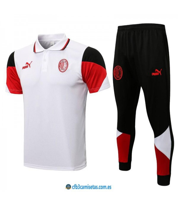 CFB3-Camisetas Polo pantalones ac milan 2021/22