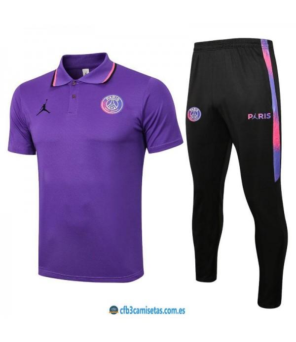 CFB3-Camisetas Polo pantalones psg 2021/22 - violeta