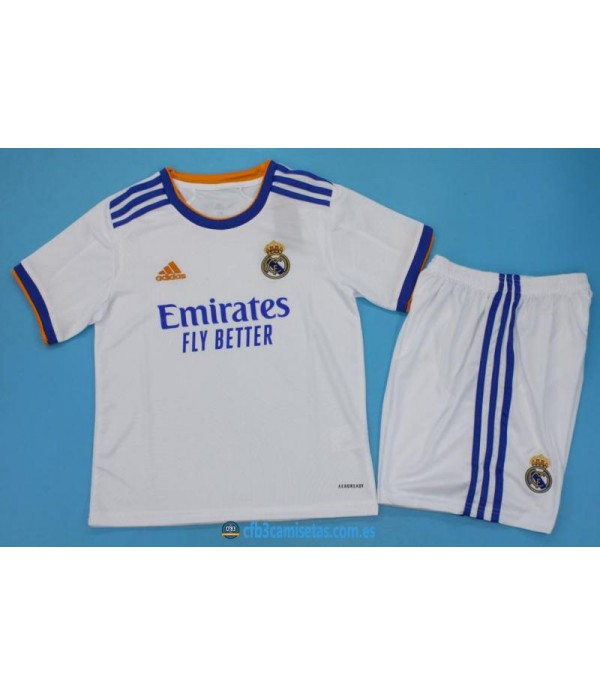CFB3-Camisetas Real madrid 1a equipación 2021/22 - niÑos