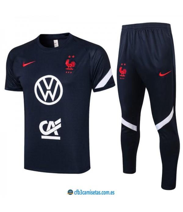 CFB3-Camisetas Camiseta pantalones francia 2021/22